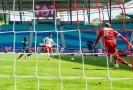 Patrik Schick dává gól v utkání proti Mohuči.