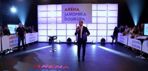Aréna Jaromíra Soukupa o korupci.