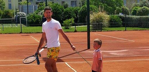 Tenista Novak Djokovič.