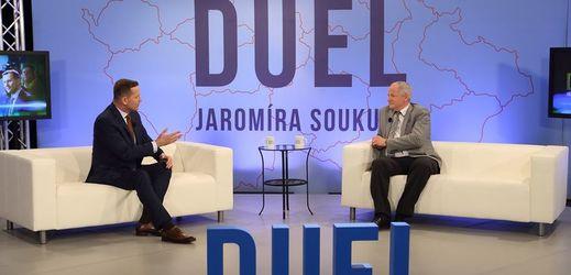 Roman Prymula byl hostem Duelu Jaromíra Soukupa.