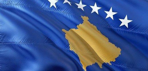 Kosovská vlajka.