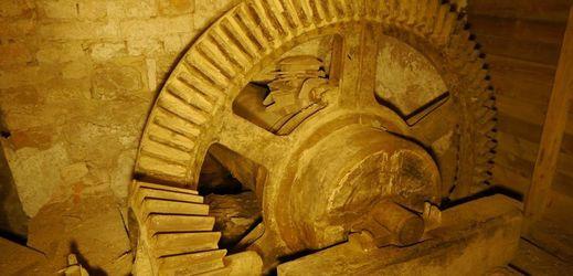 Historický pohon bývalého mlýna a truhlárny v Rapotíně.