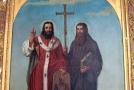 Svatý Cyril a Metoděj, obraz od Josefa Zeleného v Rajhradském klášteře.