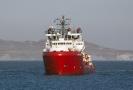 Humanitární loď Ocean Viking.