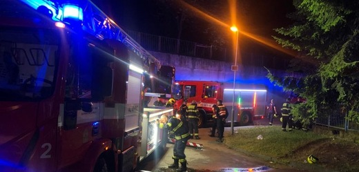 Zásah hasičů.