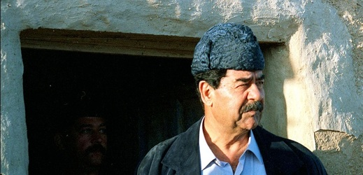 Irácký diktátor Saddám Husajn.