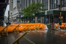 Povodňové zábrany v New Yorku.
