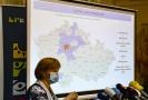 Hlavní hygienička ČR Jarmila Rážová vystoupila 3. srpna 2020 v Praze na tiskové konferenci ministerstva zdravotnictví k aktuální epidemické situaci nákazy covidem-19.