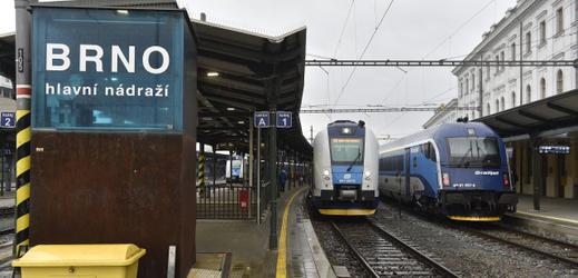 Brno hlavní nádraží.
