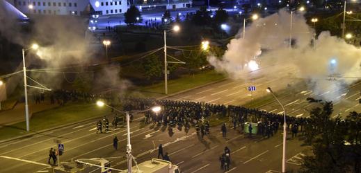 Demonstrace v Bělorusku.