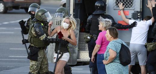 Demonstrace v Minsku.