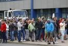 Stávkující v Bělorusku.