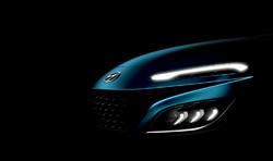 Ukázka bočních světlometů nové Hyundai Kona.