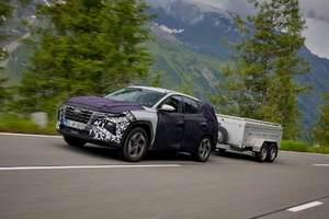 Zbrusu nový Hyundai Tucson před uvedením na trh.