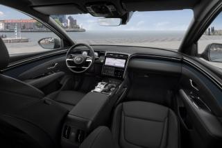 Interiér nového vozu Hyundai Tucson.