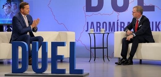 Předseda ODS Petr Fiala hostem Duelu Jaromíra Soukupa.