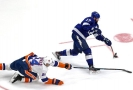 Hráči Tampy Bay a New York Islanders.