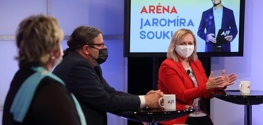 Hosté pořadu Aréna Jaromíra Soukupa.