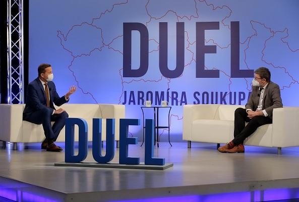 Duel Jaromíra Soukupa: Rozhovor s europoslancem Jiřím Pospíšilem