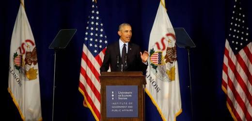 Bývalý šéf Bílého domu Barack Obama.