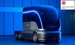 Elektricky poháněný nákladní automobil Neptune.