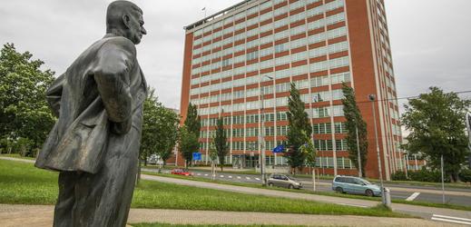 Socha Tomáše Bati ve Zlíně.
