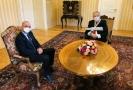 Nový ministr zdravotnictví Jan Blatný na schůzce s prezidentem Milošem Zemanem.