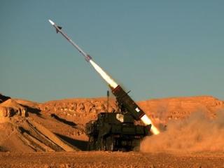 Protiletadlový raketový systém SPYDER v akci.