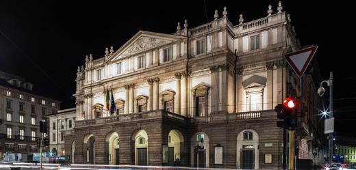 Milánská opera La Scala.