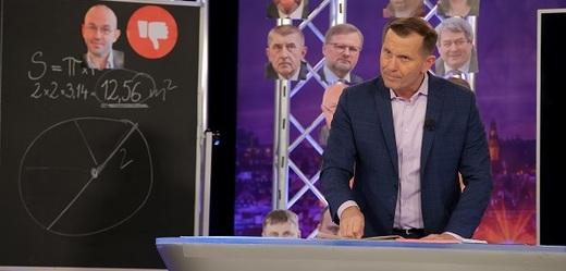 Moderátor pořadu Jaromír Soukup.