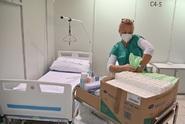Záložní nemocnice bude fungovat do konce ledna, nebylo ji třeba