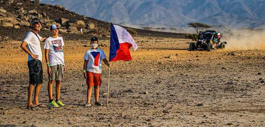 Česká podpora na Rallye Dakar.