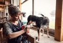 Pes je ideální parťák do domu a třeba i do dílny.