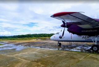 Letiště Araracuara v Kolumbii.
