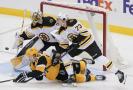 Daniel Vladař odchytal poprvé celý zápas v NHL, vítězně.