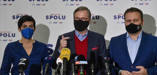 Živě: ODS, KDU-ČSL a TOP 09 jdou do voleb SPOLU