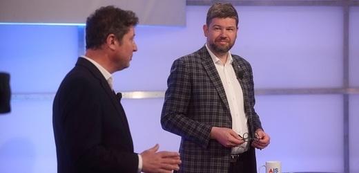 Místostarosta a zastupitel městské části Praha 6 Jan Lacina za hnutí STAN a europoslanec Jiří Pospíšil za TOP 09.