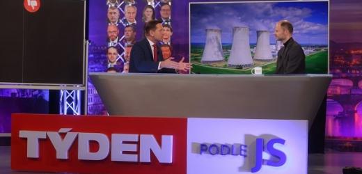 Moderátor pořadu Jaromír Soukup a viceprezident Svazu průmyslu a dopravy Radek Špicar.