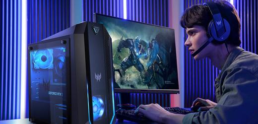 Acer uvádí nové notebooky a počítače s Intel a AMD procesory a výkonnými grafikami RTX řady 3000.