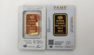 Zlato, originál versus padělek, zadní strana.
