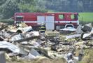 Hasiči odklízejí 11. června 2021 následky požáru drůbežárny s osmi tisíci kuřaty ve Starých Holicích na Pardubicku. Požár, který vypukl předchozí večer, způsobil odhadovanou škodu deset milionů korun.