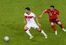 Utkání mezi Tureckem a Švýcarskem na Euru 2021.