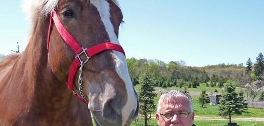 Nejvyšší kůň světa Big Jake.