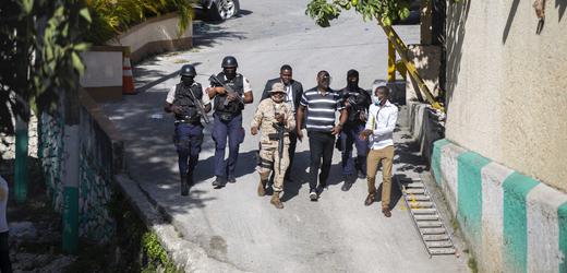Bezpečnostní složky na Haiti.