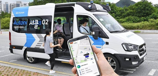"Hyundai Motor bude testovat autonomní službu ""RoboShuttle""."