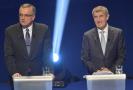 Premiér Andrej Babiš (vpravo) se nemusí omlouvat bývalému poslanci Miroslavu Kalouskovi (vlevo) za výroky, které o něm pronesl ve Sněmovně. Dnešní verdikt soudu není pravomocný. Snímek je z 19. října 2017.