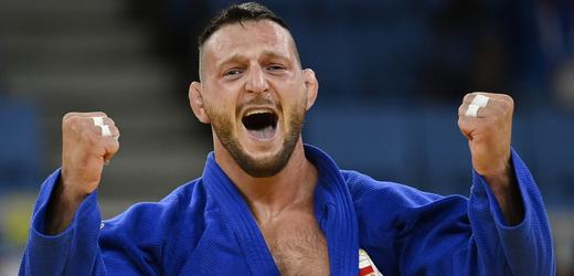 Letní olympijské hry Tokio 2020, 30. července 2021. Judo, nad 100 kg muži, finále. Lukáš Krpálek z ČR, který porazil Gurama Tušišviliho z Gruzie.