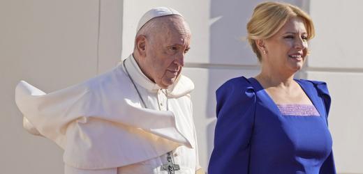 Papež František a slovenská prezidentka Zuzana Čaputová.