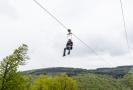 Sportovní areál Klíny v Krušných horách zahájil 15. května 2021 sezonu s novou atrakcí, tzv. zipline, jízdou po laně nad údolím.