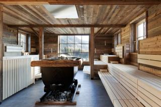 Alpská sauna.